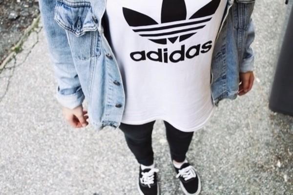 t-shirt adidas white swag