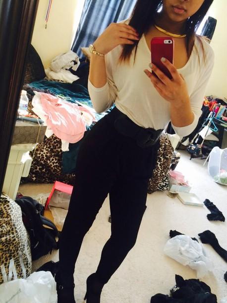 belt blouse top