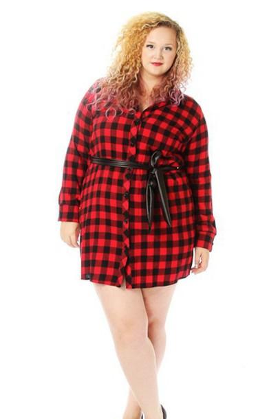dress cute plus size plaid plus size dress pinkclubwear plus size