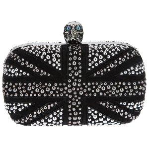 Alexander McQueen Black - Skull Box Britannia Clutch Bag - Sale