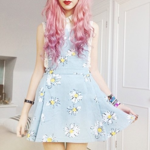Daisy Denim all in one dress from Super Animals Temples on Storenvy