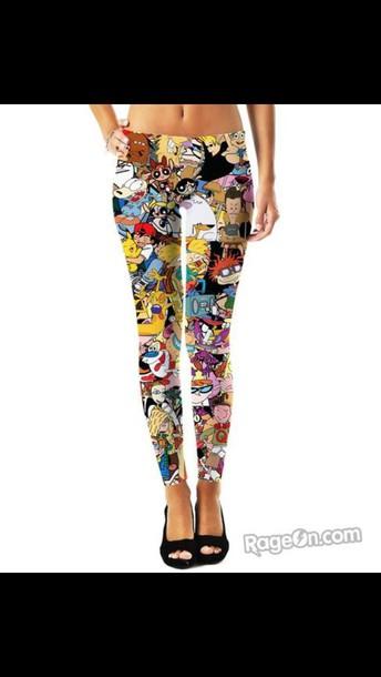 leggings cartoon network characters