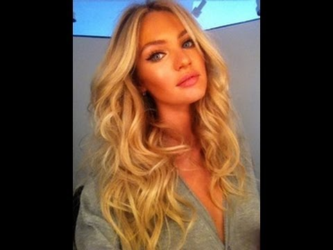 VICTORIAS SECRET HAIR tutorial for BEACH WAVES / CURLS No HEAT like Candice Swanepoel Marissa Miller - YouTube