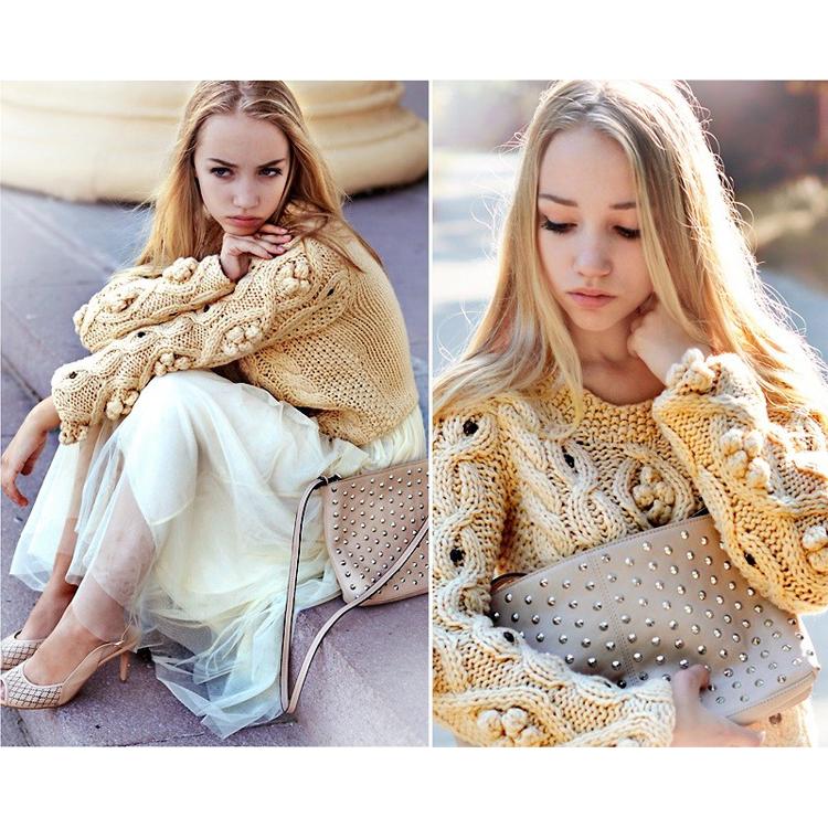 Retro Cozy Up Woolen Sweater  - Retro, Indie and Unique Fashion
