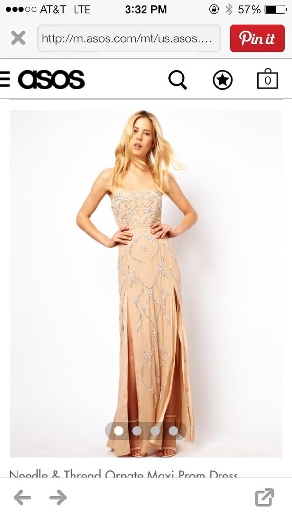 dress needle and thread ornate prom dress maxi maxi dress
