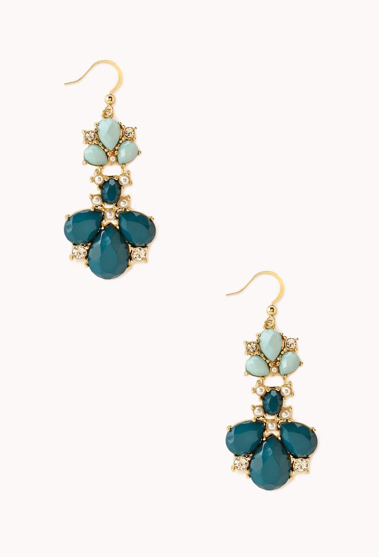 Regal Two-Tone Drop Earrings | Accessories | Jewellery | Women - 1000065746 | Forever 21 UK