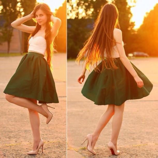 skirt green skirt green midi skirt green skirt lookbook