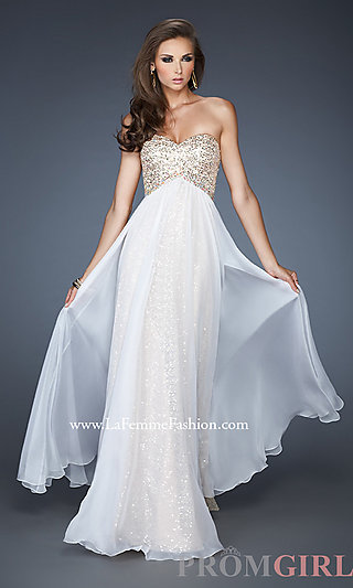 Long Strapless Sequin Prom Dress by La Femme - PromGirl