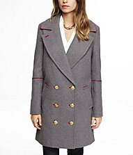 PIPED DROP DOUBLE BREASTED COAT | Express