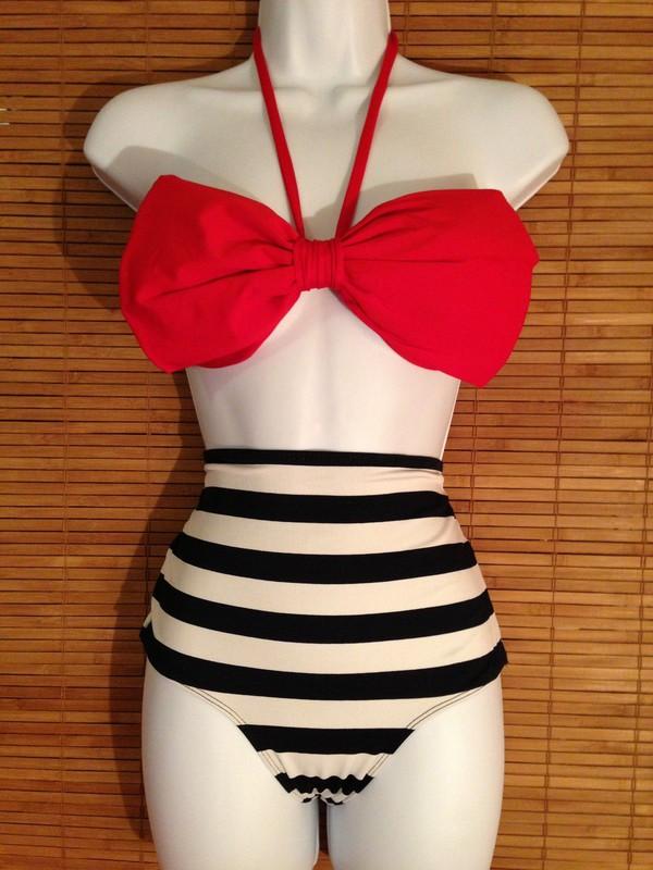 swimwear high waisted bikini oversized bow