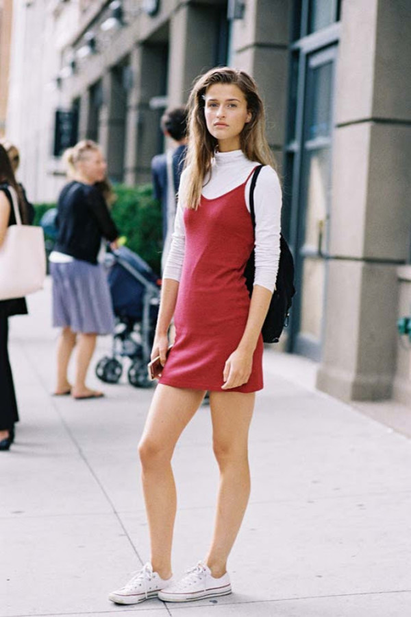 vanessa jackman, blogger, dress, tank top, dress over t-shirt, top ...