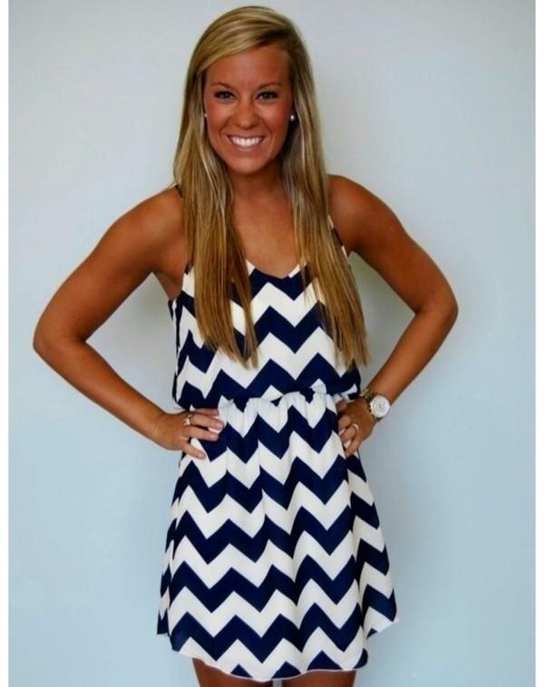 dress white blue navy stripes stripes stripes chevron chevron dresses