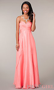 Prom Dresses, Celebrity Dresses, Sexy Evening Gowns - PromGirl: Long Strapless Sweetheart Formal Gown