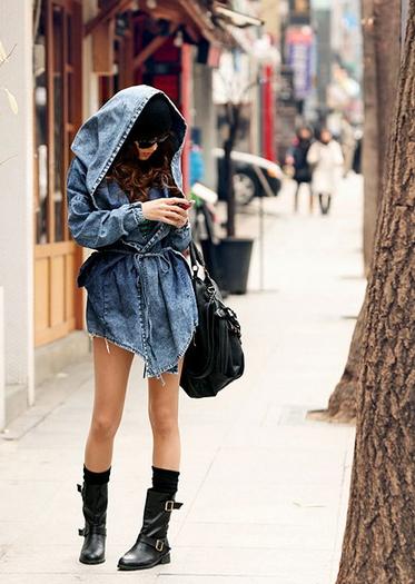 Trench Coat Hoodie Hooded  - Juicy Wardrobe