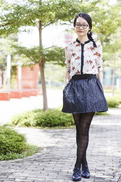 pupuren blogger blouse skirt