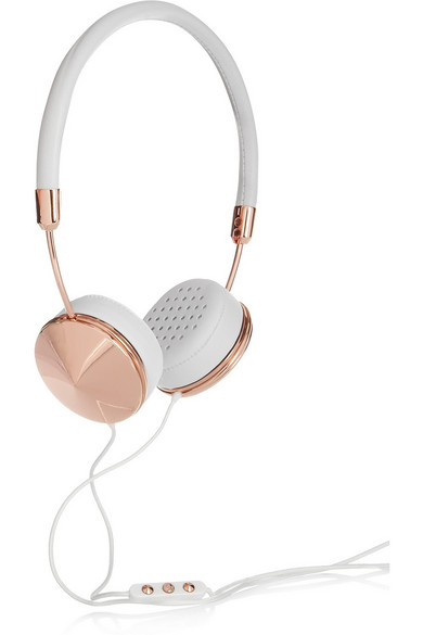 Frends Layla leather and rose gold-tone headphones NET-A-PORTER.COM