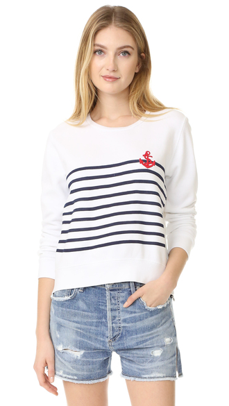 t-shirt fashion clothes sundry anchor tee stripes french terry