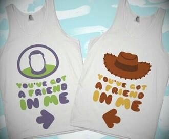 shirt disney disney shirt disney top you've got a friend in me bff shirts toy story matching shirts