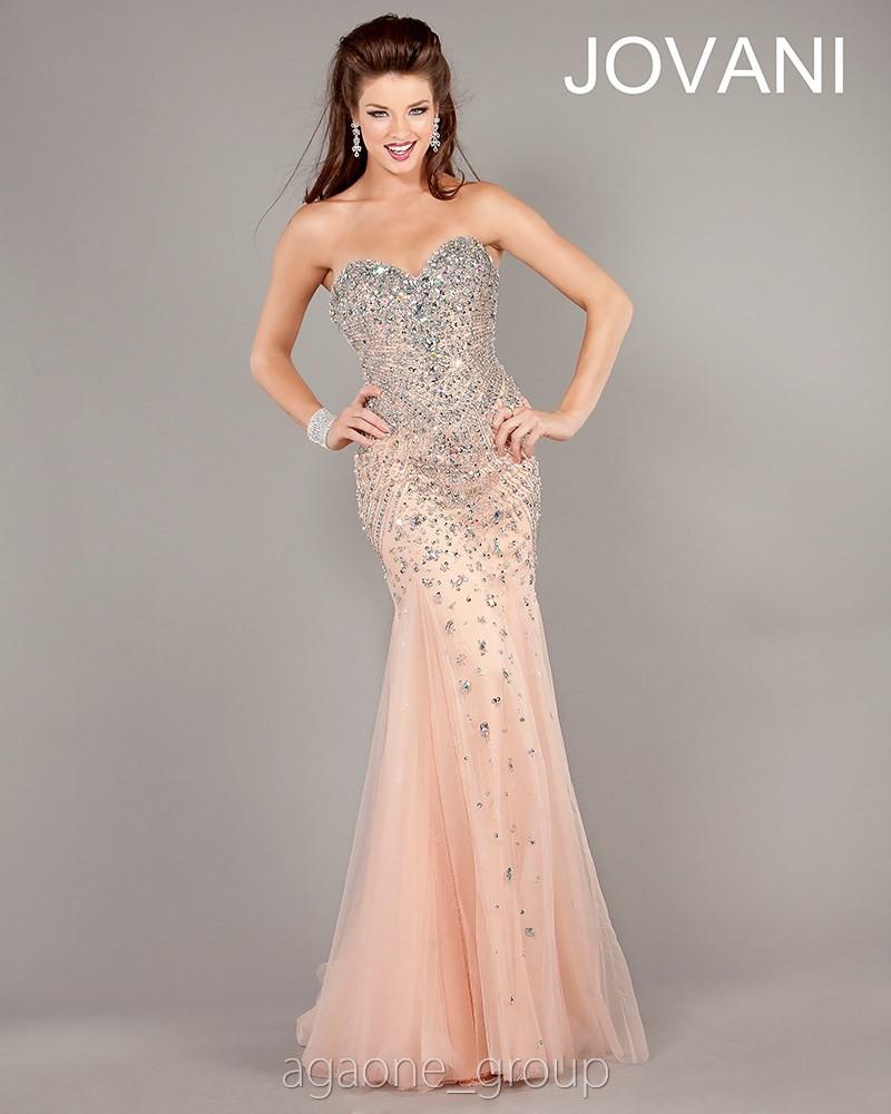 JOVANI Evening Dress 6837 Lowest Price GUARANTEE Sizes 00 24 Blush | eBay