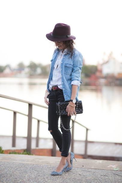 alterations needed blogger shirt jeans hat shoes bag belt jewels