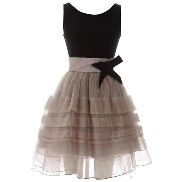 Elegant Pompon Dress with Bow - Polyvore