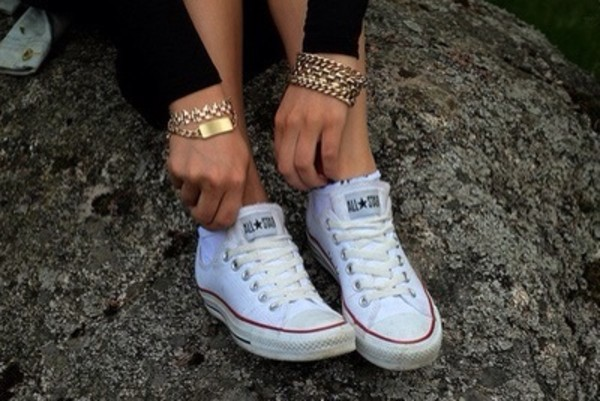 shoes converse white jewels