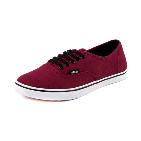 Vans Authentic Lo Pro Skate Shoe, Maroon, at Journeys Shoes