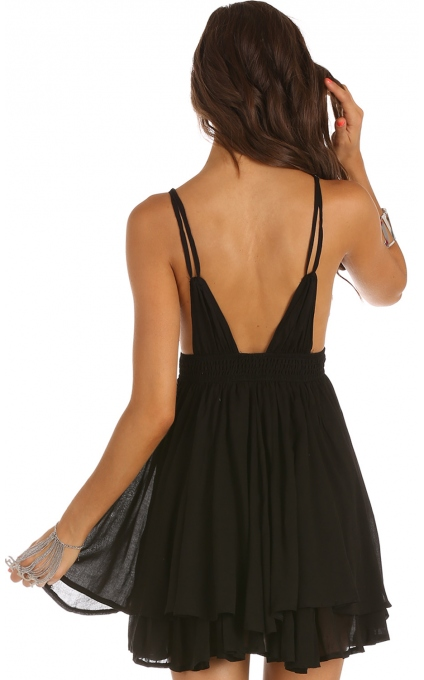 Party dresses > LOVE MORE DRESS IN BLACK