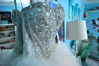 dress prom clothes sparkling dress designer dress prom dress gorgeous dress diamonds jewels white dress beautiful ball gown dress sparkle sweet 16 dresses