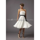 Buy Cheap Dramatic A-line Strapless Satin Bridesmaid Dresses SABD-30183 Wedding Party Dresses under $94.99 only in Udressprom.com.