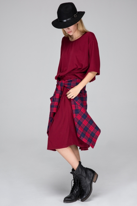 Relaxed dress with half sleeves - FrontRowShop