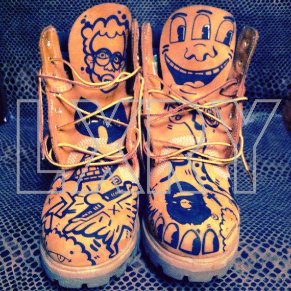 Timberland Custom Boots by VERYRVRECUSTOMS on Etsy