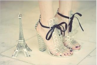 shoes paris eiffel tower heels style high heels