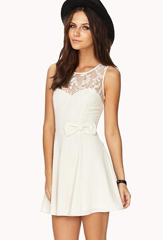 Opulent Mesh A-Line Dress   FOREVER21 - 2000140214