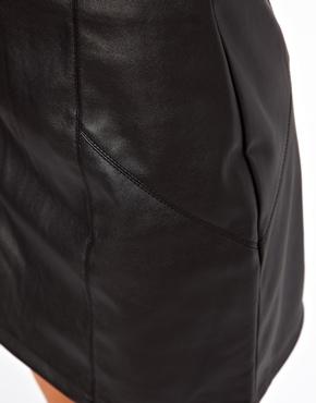 ASOS | ASOS Mini Skirt in Leather Look at ASOS