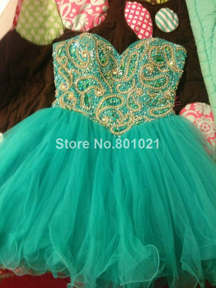 A line Mini Strapless Mini Green Occasion Charming Sweetheart Short Prom Dresses Party-in Prom Dresses from Apparel & Accessories on Aliexpress.com