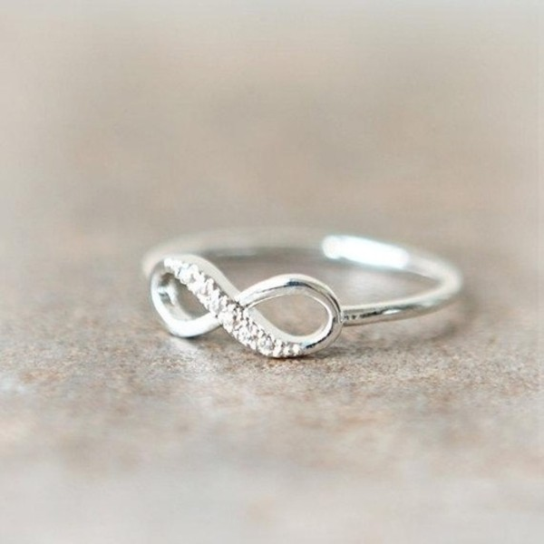 jewels infinity silver ring