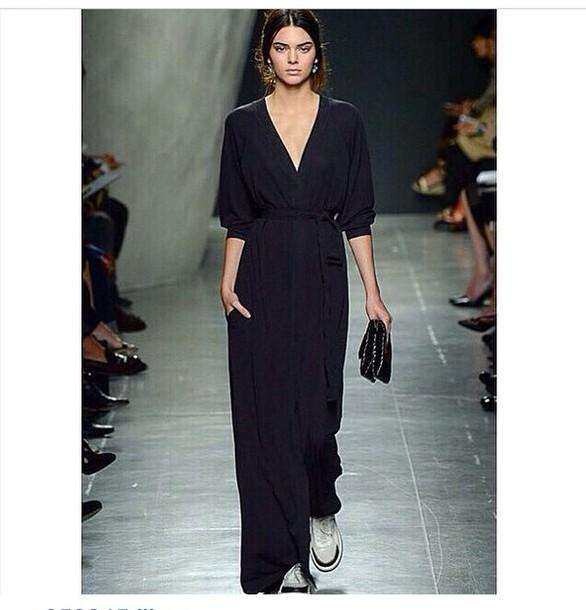 kendall jenner black dress maxi dress dress