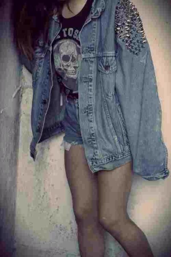 jacket jeans cute rock denim jacket alternative