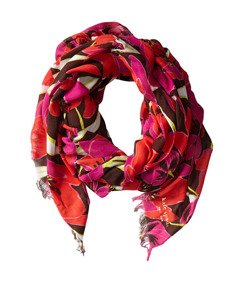 Kate Spade New York Rio Tropical Floral Scarf Rio Pink - Zappos Couture