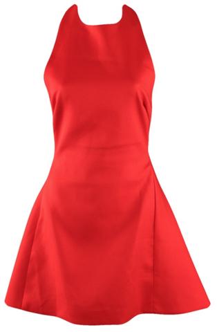 RawGlitter.com | Lady in Red Mini Halter Dress | RawGlitter.com