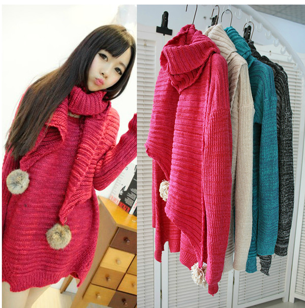 coat fashion knit sweater classic seater winter sweater winter coat scarf bunny vintage
