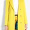 Msgm | yellow wool coat by msgm
