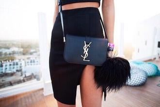 bag classy black ysl