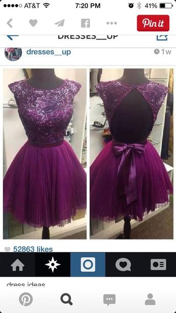 dress purple dress lace dress homecoming dress