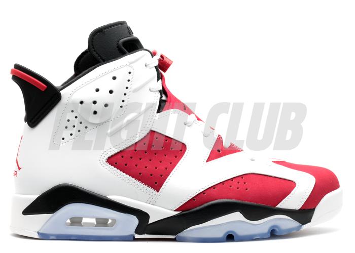 "air jordan 6 retro ""carmine"" - white/carmine-black - Air Jordans  | Flight Club"
