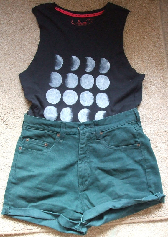 Phases of the moon tank top by CosmicSunspots on Etsy