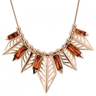 jewels necklace spike gold
