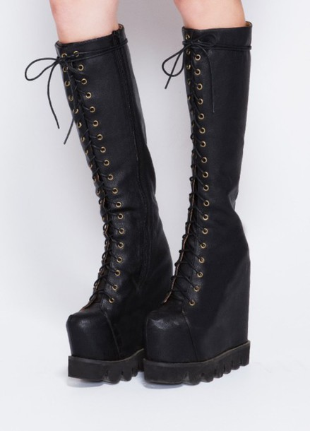 shoes boots goth camouflage lace up