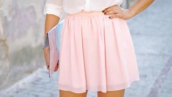 skirt pink pink rose short skirt light rose lovely girl